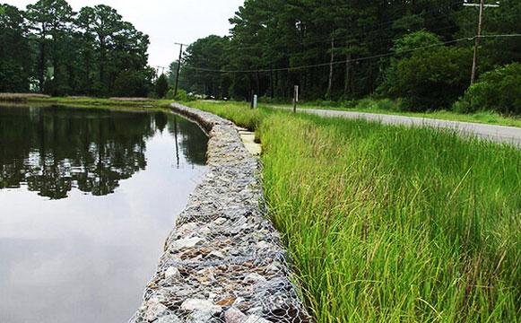 河道石笼网施工应用图片