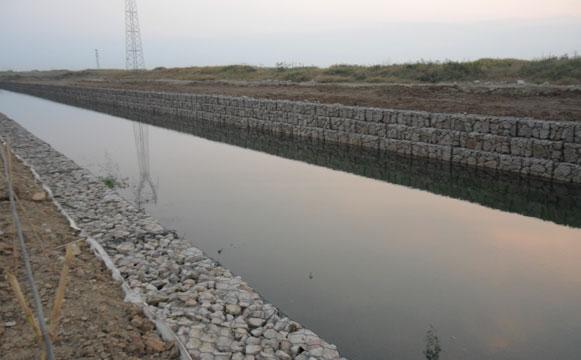 河道石笼网实景图
