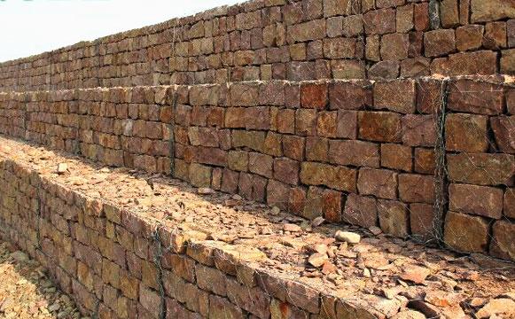 生态石笼网护岸挡墙结构形式